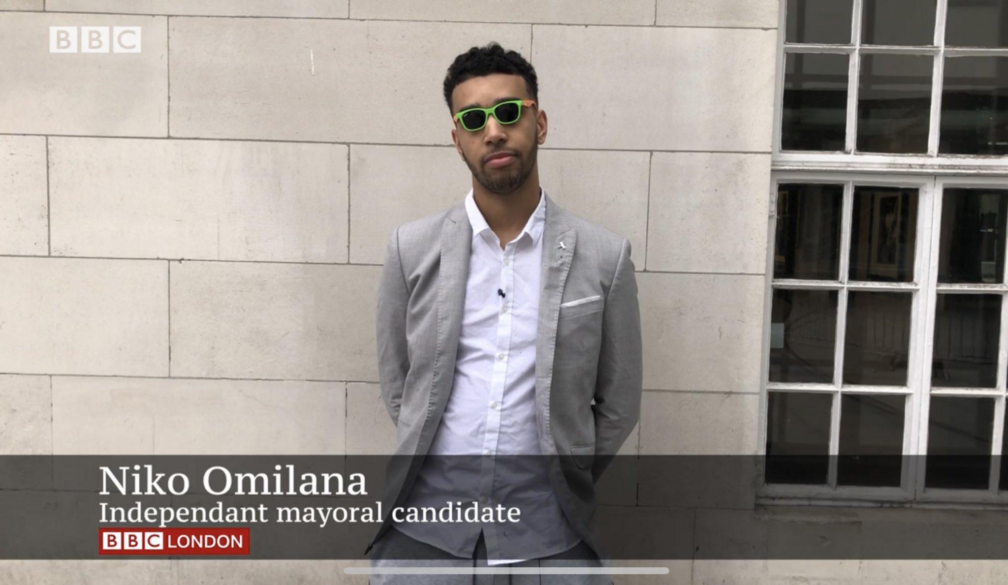 Vote for Niko Omilaro for London Mayor